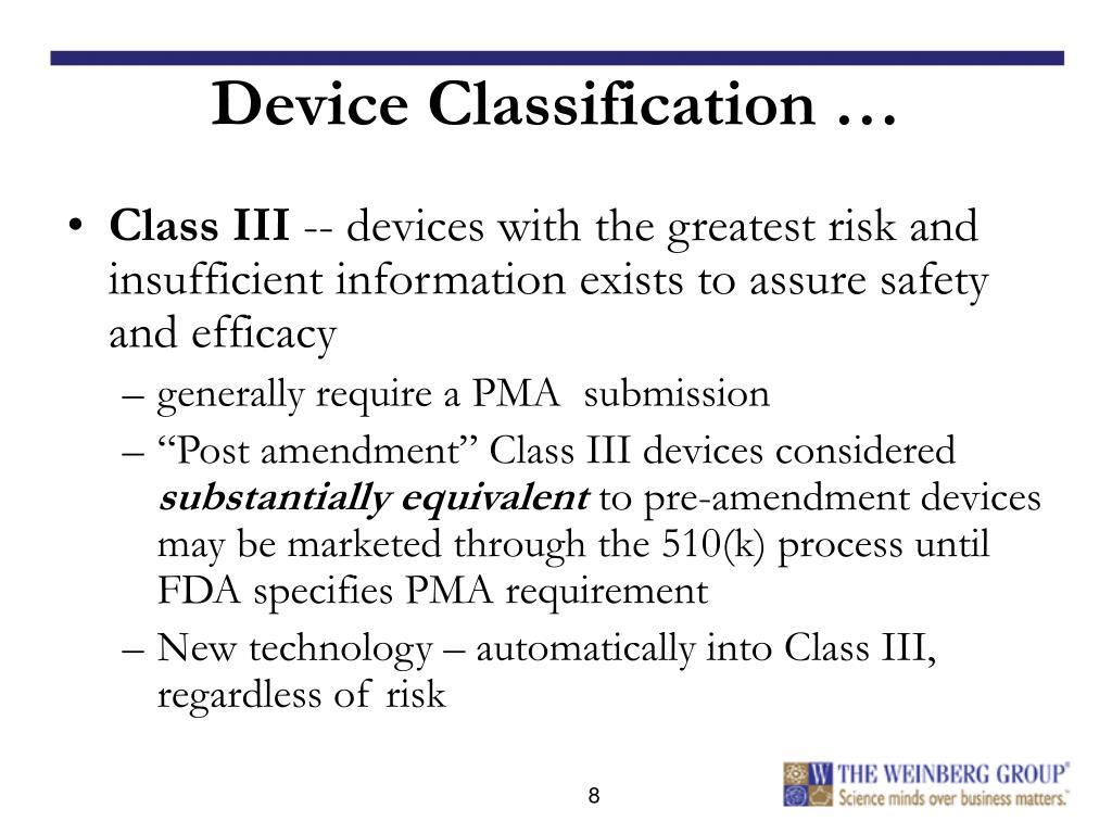 Device Classification …