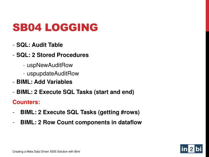 SB04 Logging