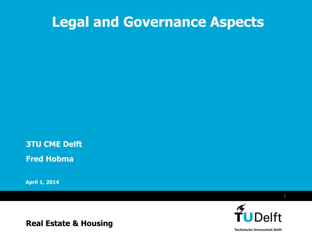legal and governance aspects l.