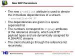 new sdp parameters