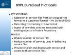 nypl duracloud pilot goals