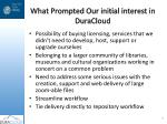 what prompted our initial interest in duracloud
