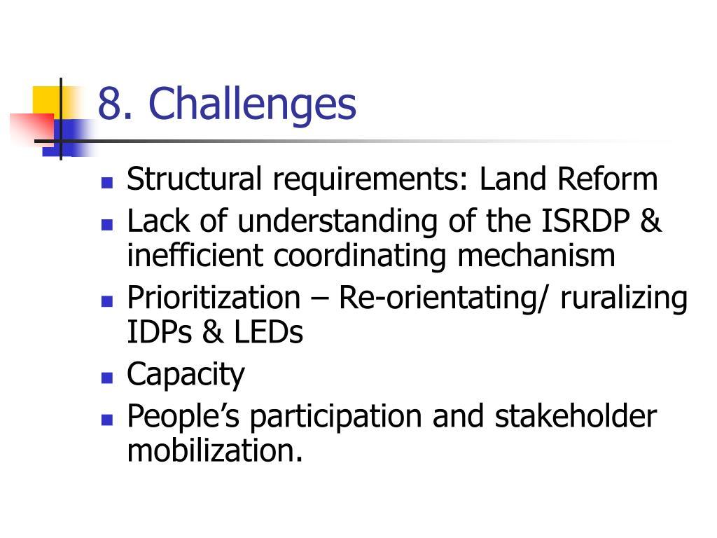 8. Challenges