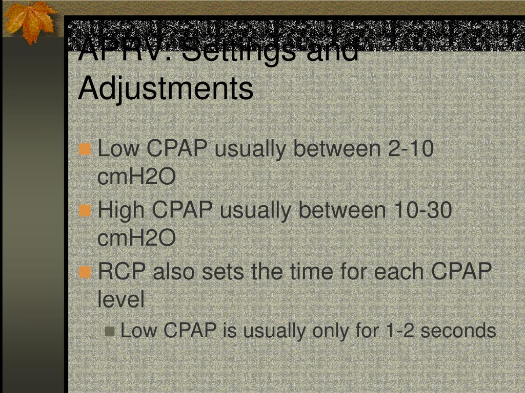 APRV: Settings and Adjustments