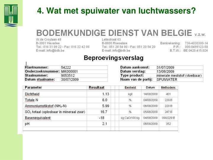 4. Wat met spuiwater van luchtwassers?