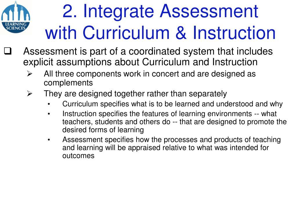 2. Integrate Assessment
