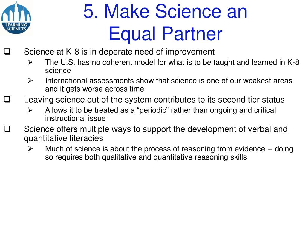 5. Make Science an