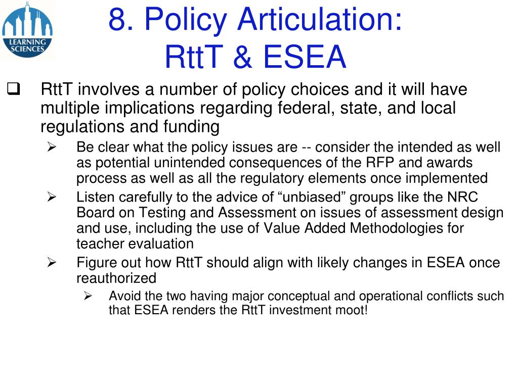 8. Policy Articulation: