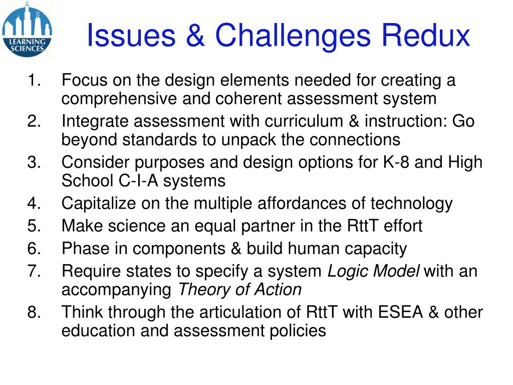 Issues & Challenges Redux