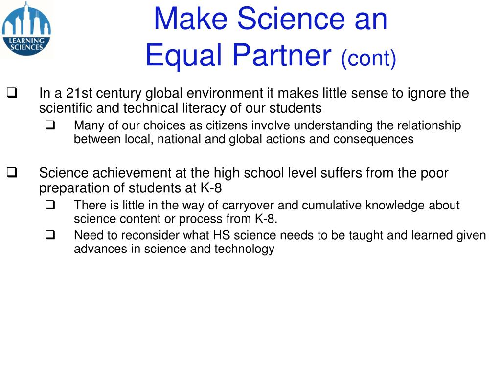 Make Science an