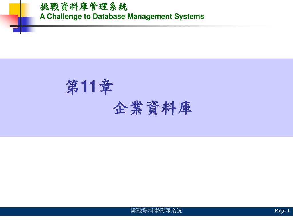 挑戰資料庫管理系統