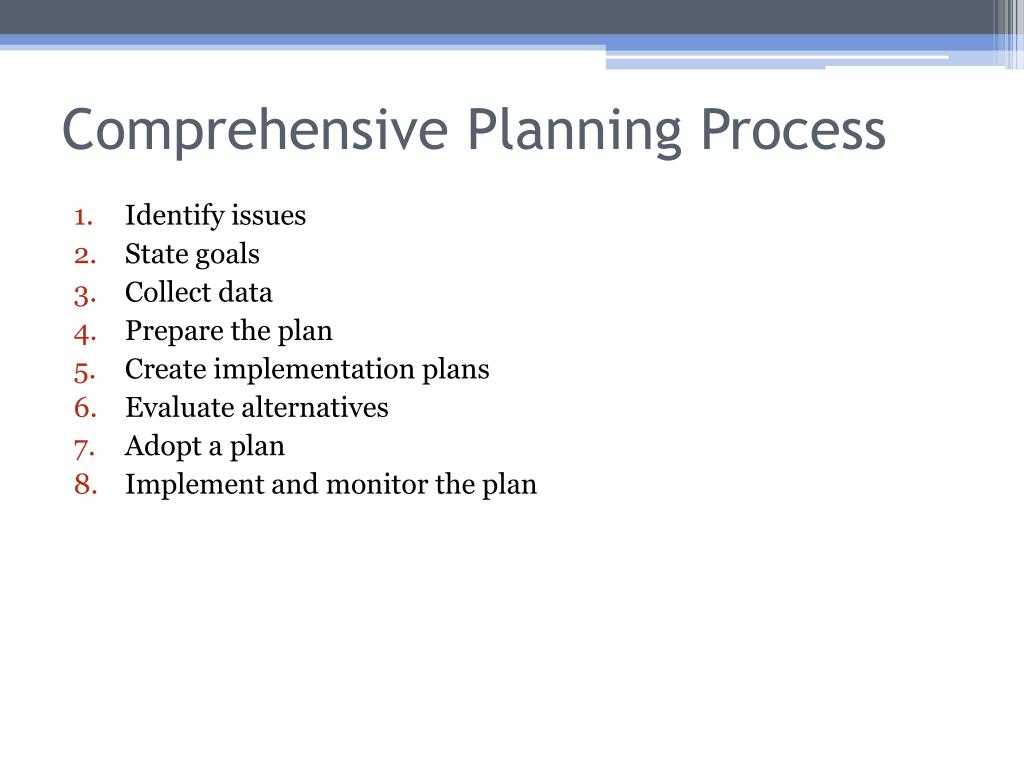 Comprehensive Planning Process