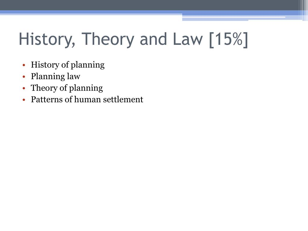 History, Theory and Law [15