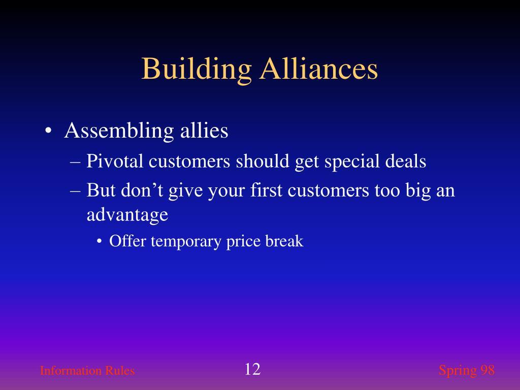 Building Alliances