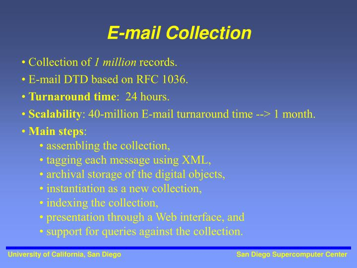 E-mail Collection