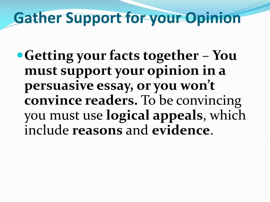Gather Support for your Opinion
