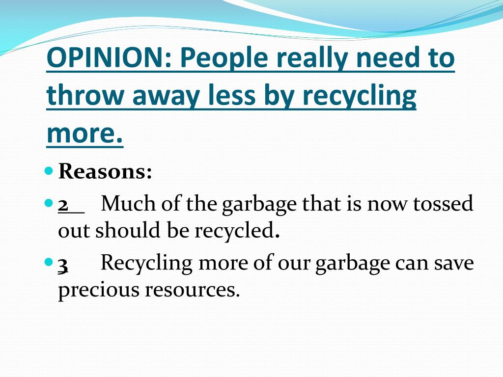 OPINION: People really need to throw away less by recycling more.