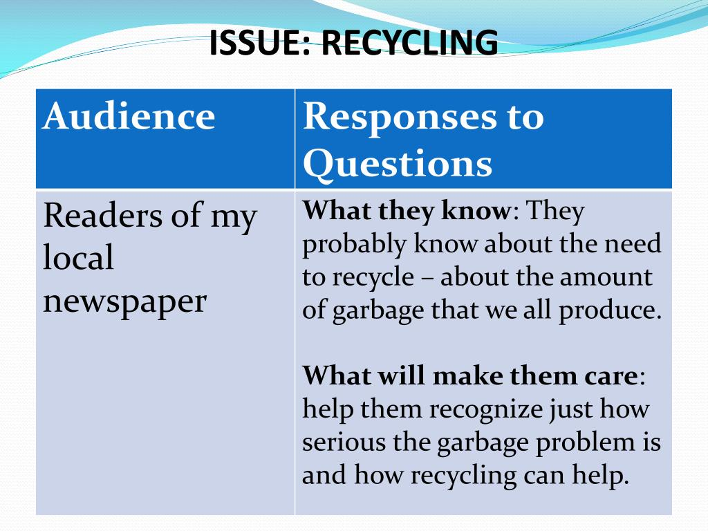 ISSUE: RECYCLING