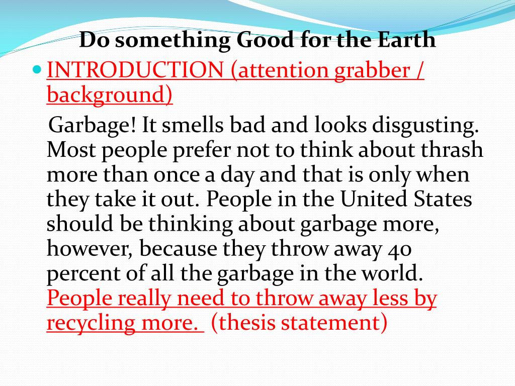 Do something Good for the Earth