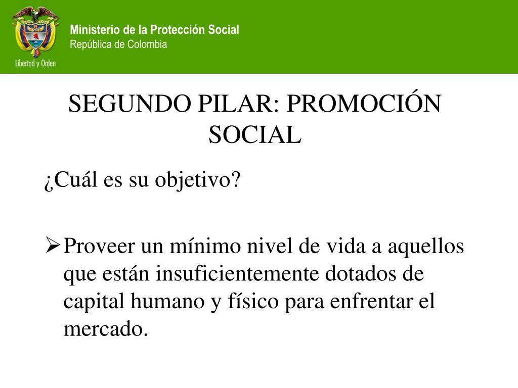 SEGUNDO PILAR: PROMOCIÓN  SOCIAL