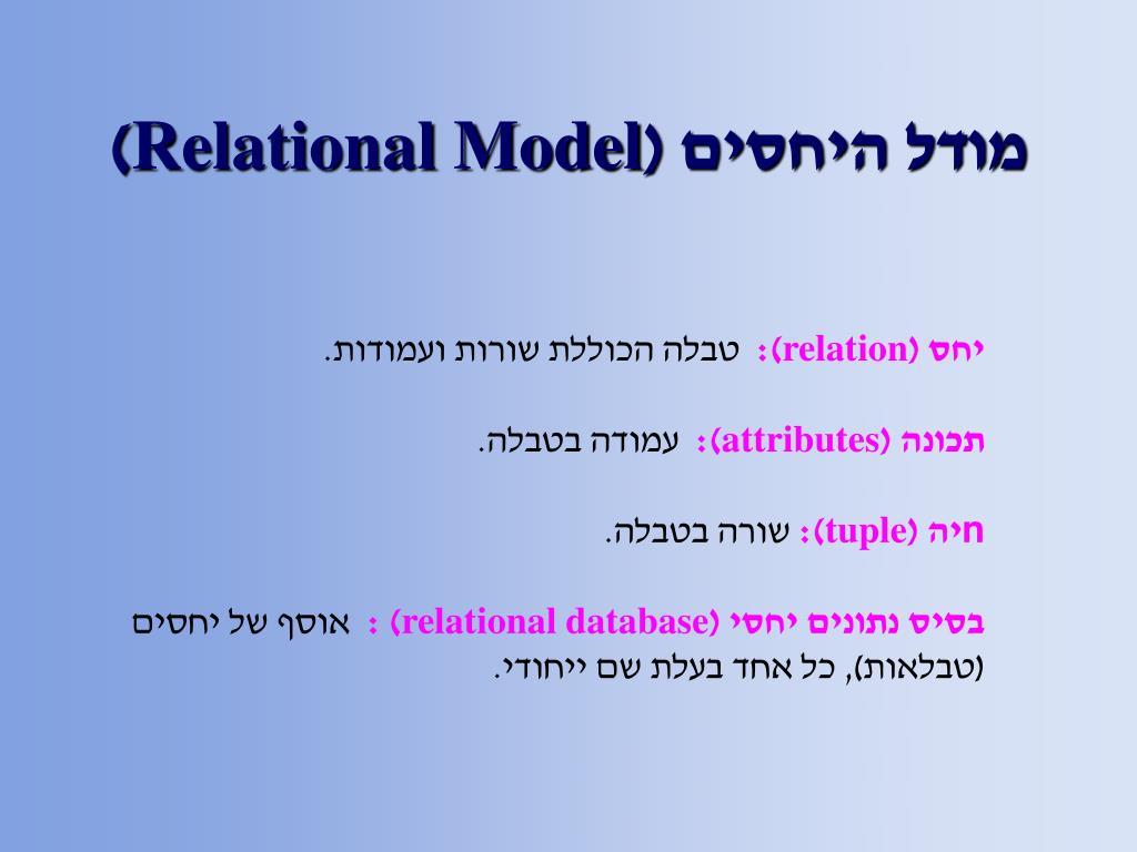 מודל היחסים (