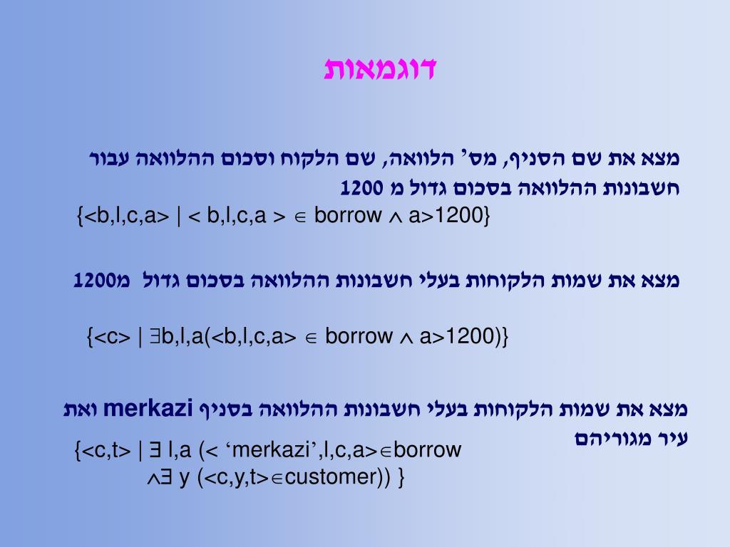 דוגמאות