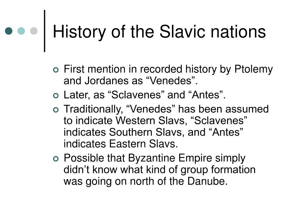 History of the Slavic nations