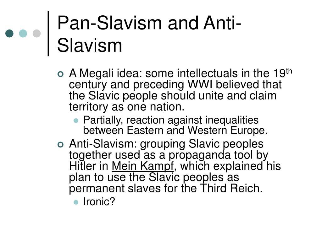 Pan-Slavism and Anti-Slavism