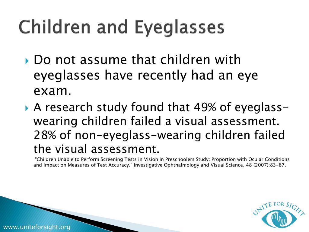 Children and Eyeglasses