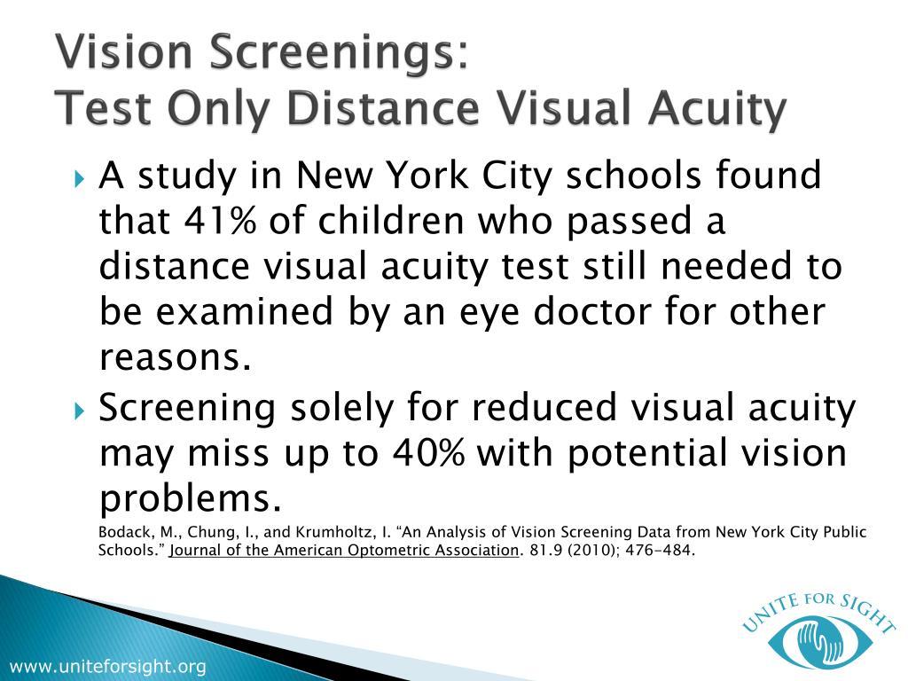 Vision Screenings: