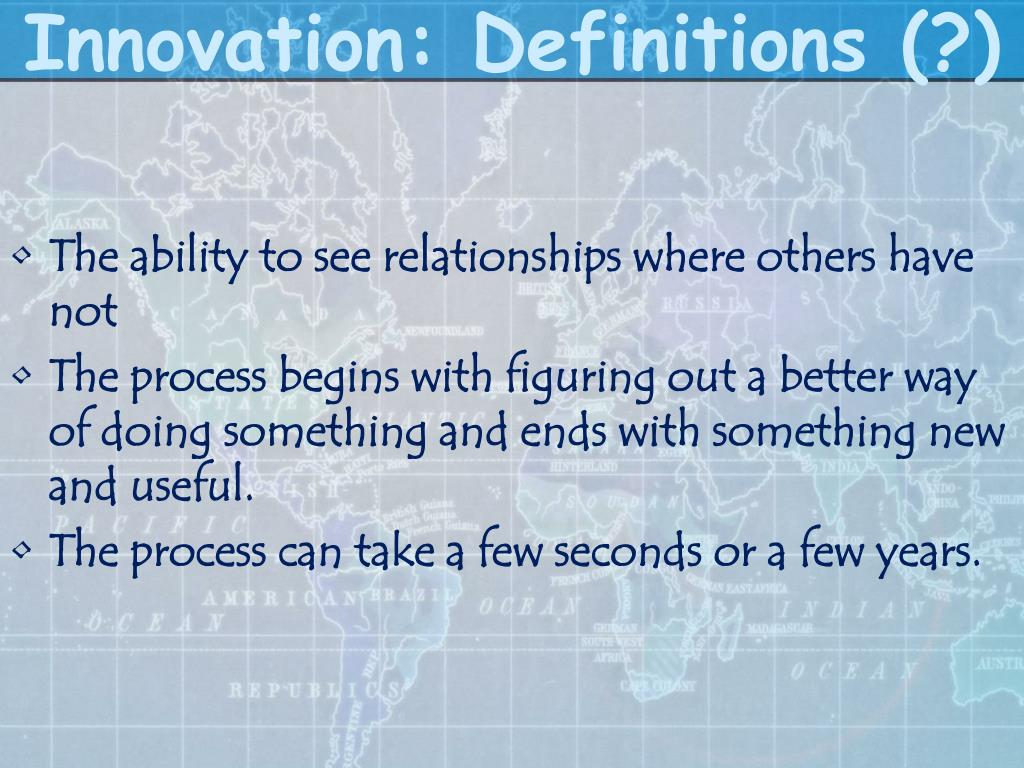 Innovation: Definitions (?)