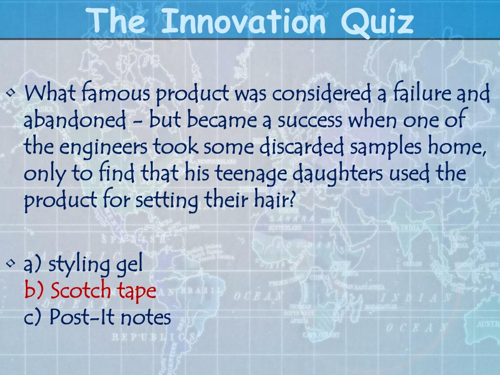 The Innovation Quiz