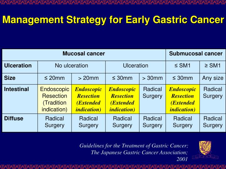 Management Strategy for Early Gastric Cancer