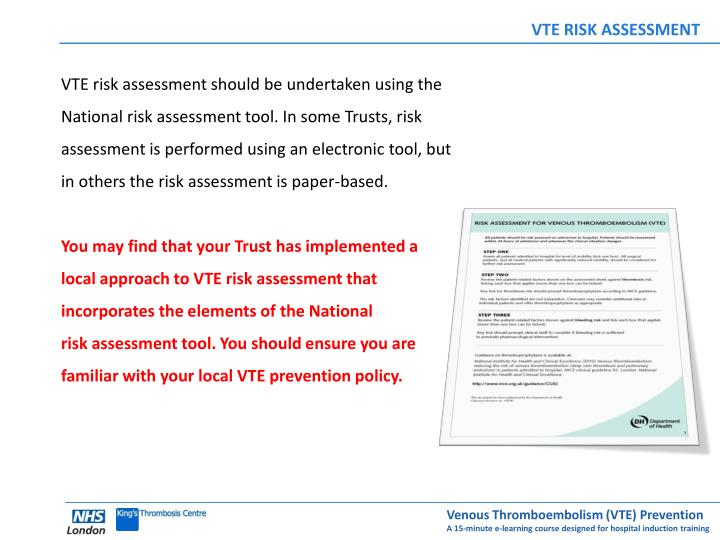 VTE RISK ASSESSMENT