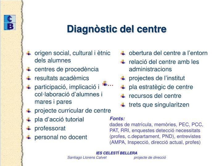origen social, cultural i ètnic dels alumnes