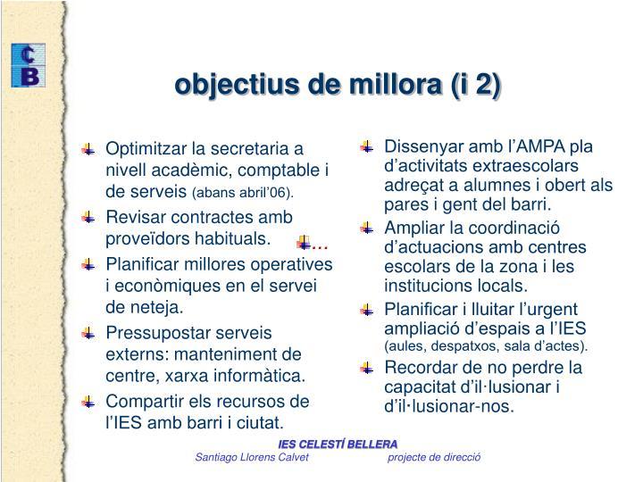 Optimitzar la secretaria a nivell acadèmic, comptable i de serveis
