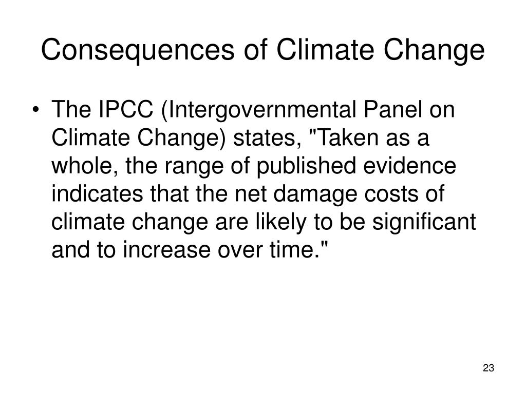 Consequences of Climate Change