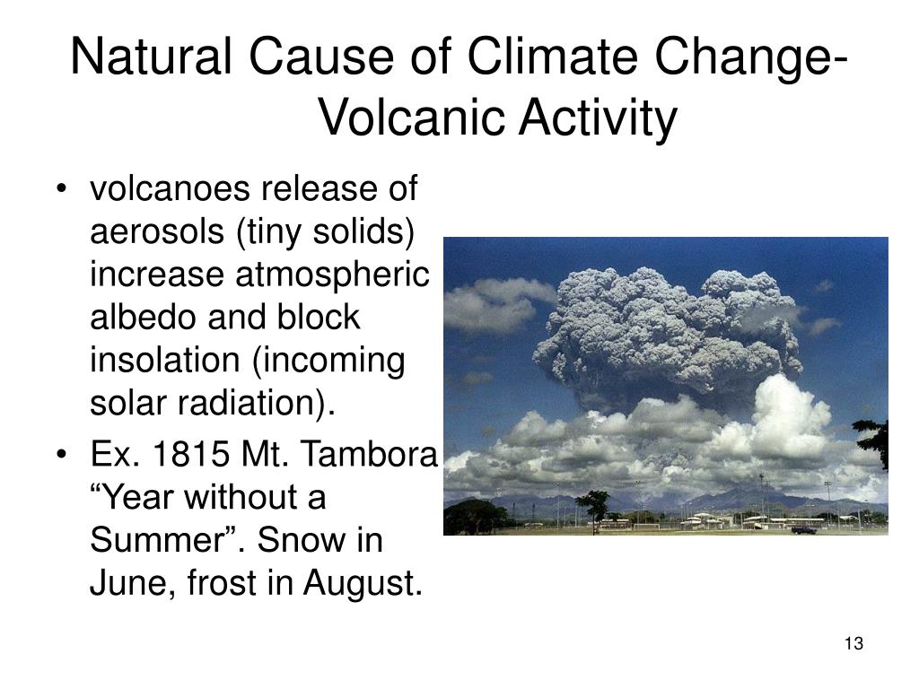 Natural Cause of Climate Change- Volcanic Activity