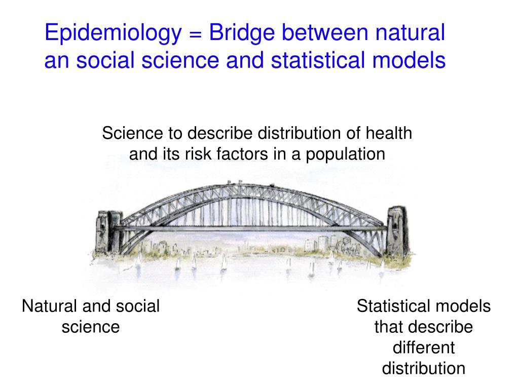 Epidemiology = Bridge between natural an social science and statistical models