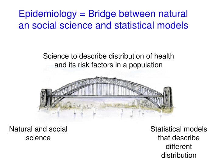 Epidemiology bridge between natural an social science and statistical models