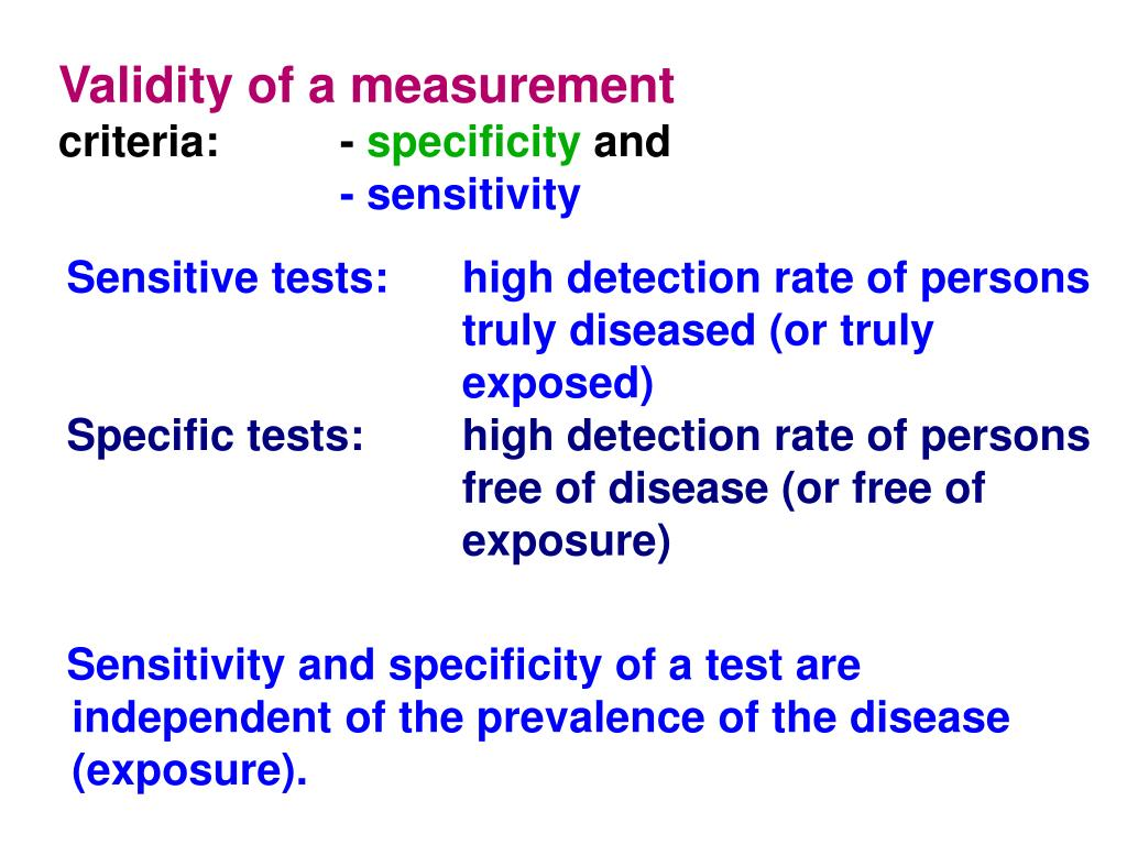 Validity of a measurement