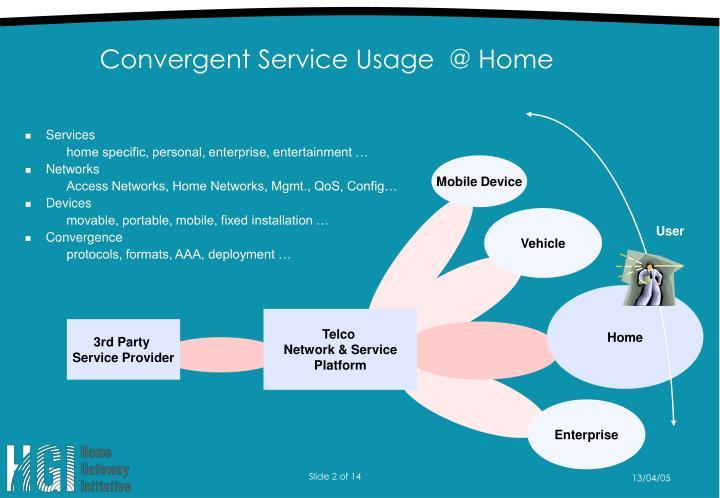 Convergent service usage @ home