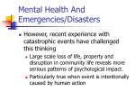 mental health and emergencies disasters17