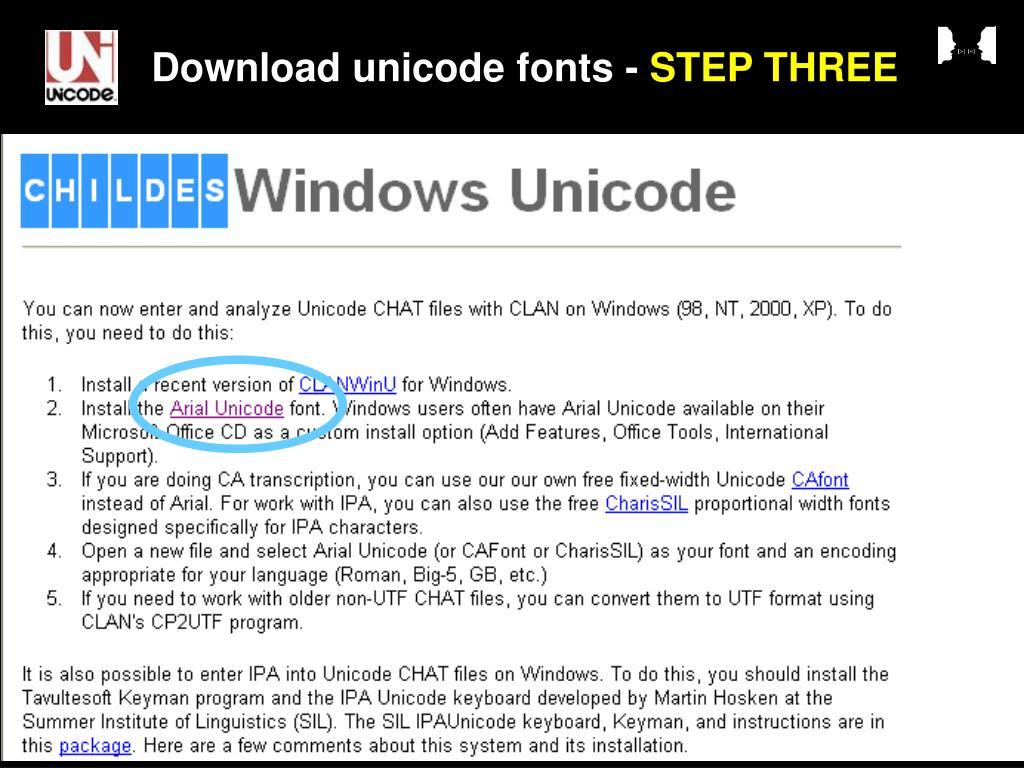Download unicode fonts -
