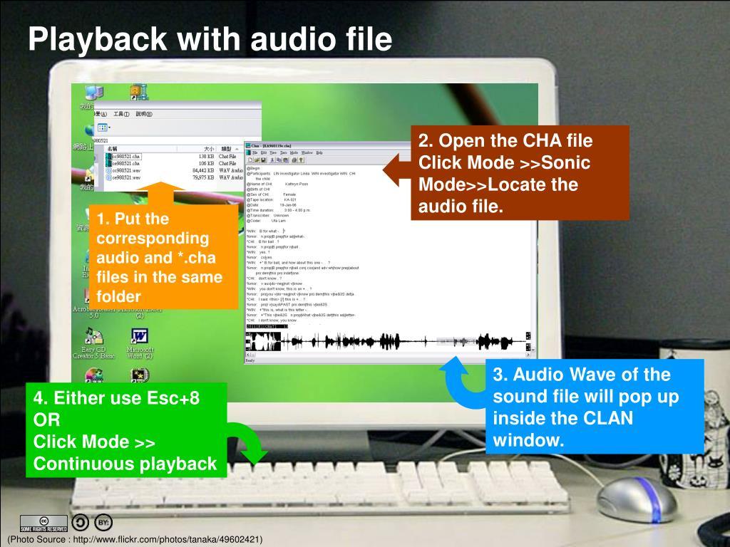 2. Open the CHA file Click Mode >>Sonic Mode>>Locate the audio file.