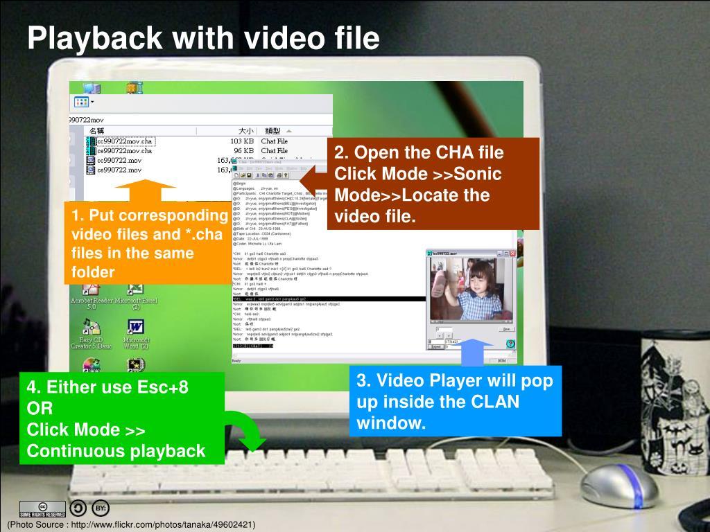 2. Open the CHA file Click Mode >>Sonic Mode>>Locate the video file.