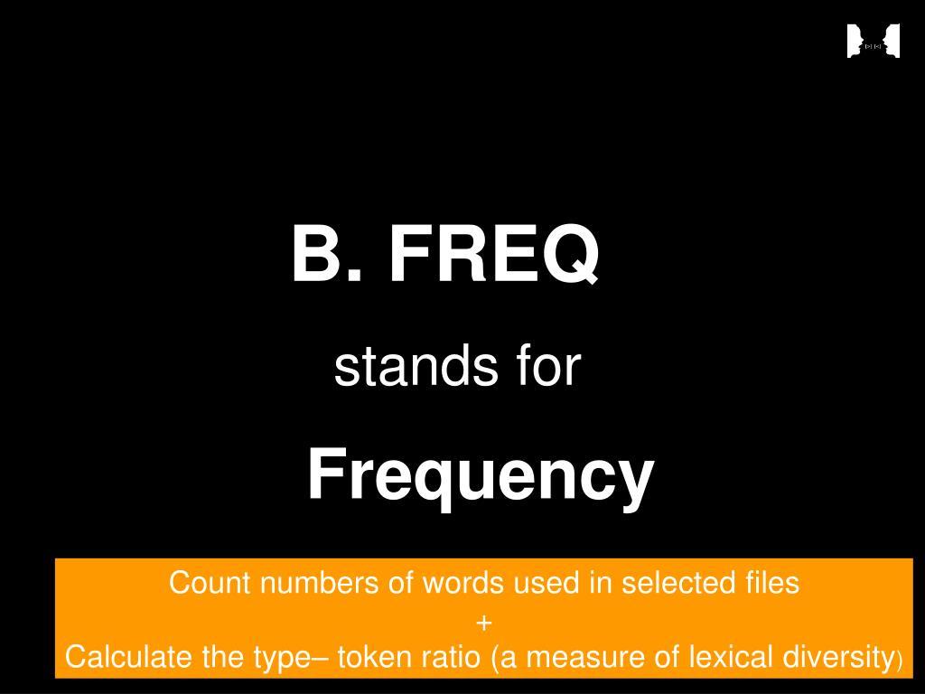 B. FREQ