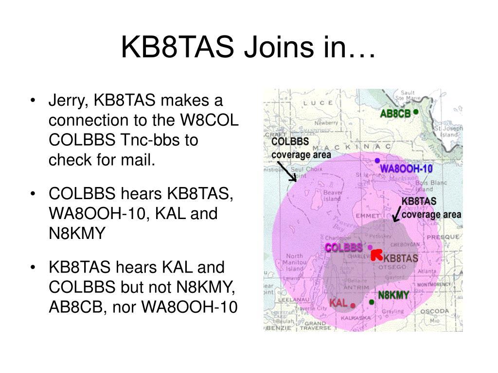KB8TAS Joins in…