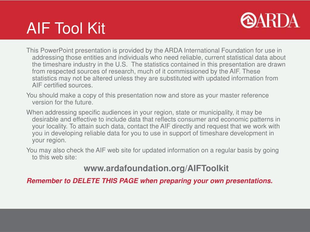 aif tool kit l.