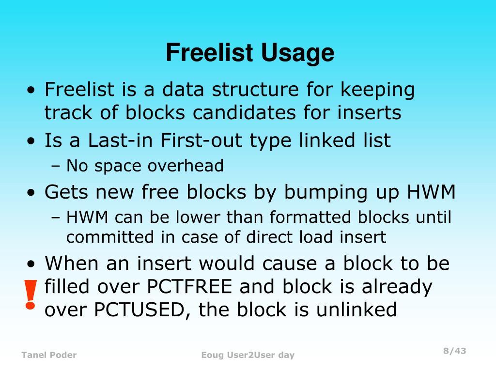 Freelist Usage